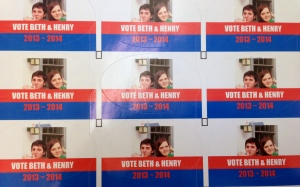Beth and Henry's campaign stickers